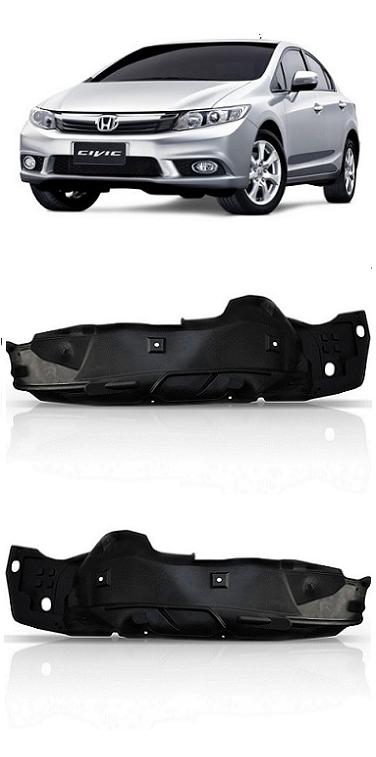 Par Parabarro Dianteiro Honda New Civic 2012 2013 2014
