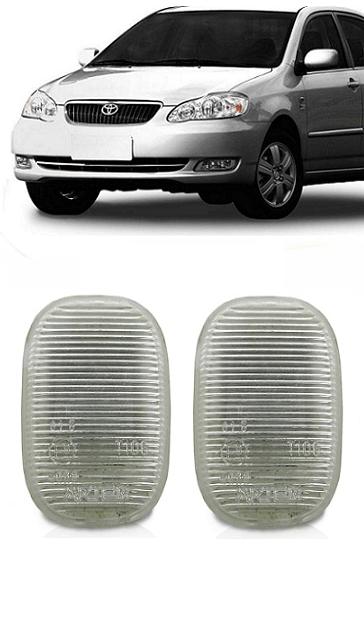 Par Pisca Lanterna Seta Lateral Paralama Toyota Corolla 2003 2004 2005 2006 2007 2008