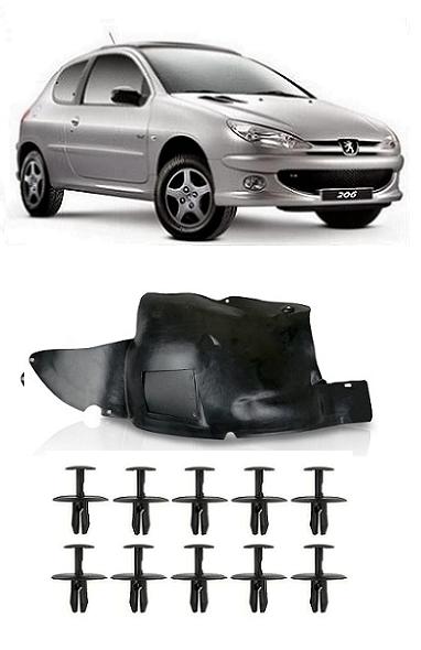 Parabarro Peugeot 206 1999 a 2011 Parte Dianteira + 10 Presilhas