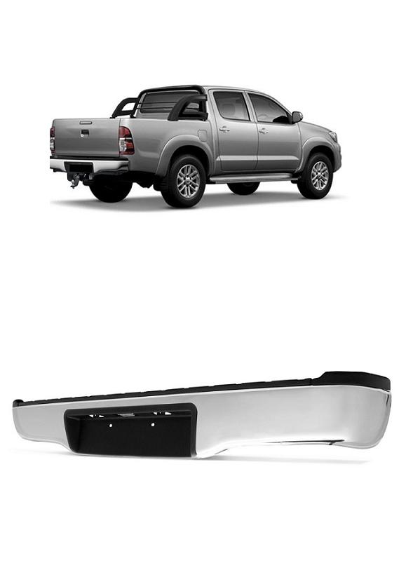 Parachoque Traseiro Hilux SRV SR 2005 2006 2007 2008 2009 2010 2011 2012 2013 2014 2015