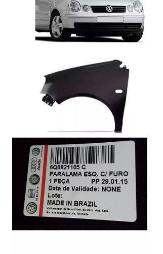 Paralama Polo 2007 2008 2009 2010 2011com Furo de Pisca