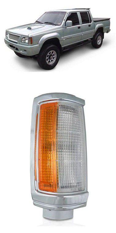 Pisca Lanterna Dianteira L200 1992 a 2003 Aro Cromado