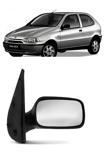 Retrovisor Fiat Palio Siena Weekend 1996 1997 1998 1999 2000 2 Portas Fixo Sem Controle