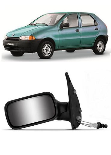 Retrovisor Fiat Palio Siena Weekend 1996 1997 1998 1999 2000 4 Portas com Controle