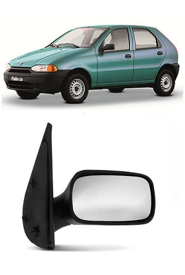 Retrovisor Fiat Palio Siena Weekend 1996 1997 1998 1999 2000 4 Portas Fixo Sem Controle