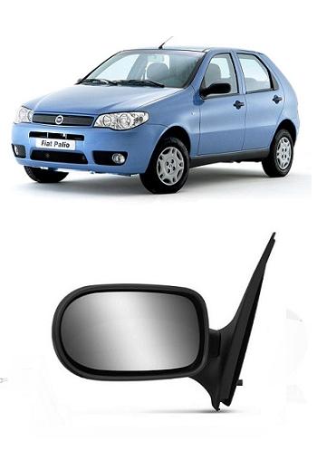 Retrovisor Fiat Palio Strada 2004 2005 2006 2007 2 Portas Fixo Sem Controle