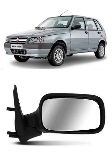 Retrovisor Fiat Uno Fire Flex 2005 a 2010 4 Portas sem Controle