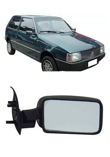Retrovisor Fiat Uno Mille 1990 1991 1992 1993 2 Portas Fixo