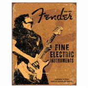 Placa Metálica Decorativa Fender Fine - Desperate