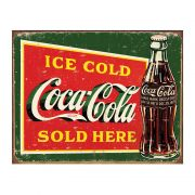 Placa Metálica Decorativa Ice Cold Coke - Desperate