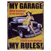 Placa Metálica Decorativa My Garage - Desperate