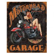 Placa Metálica Decorativa Motorhead Garage - Desperate