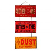 "Jogo de Placas Decorativas ""Another One Bites The Dust"" Queen"