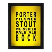 "Quadro porta-tampinhas ""Beer Styles"""