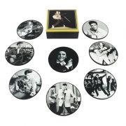 Jogo de porta-copos (bolachas) Elvis Presley