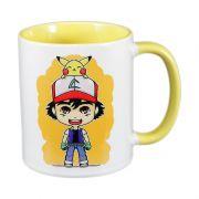 Caneca Ash e Pikachu - Pokémon