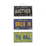"Jogo de Placas Decorativas ""Another Brick In The Wall"" Pink Floyd"