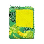Canga Toalha para Praia 1,00 x 1,40 Verde e Amarela - Secret Beach