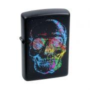 Isqueiro Skull Black Matte (28042) - Zippo
