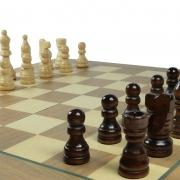 Jogo de Xadrez e Dama Dobrável 35x35 - Hoyle