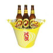 Kit Cerveja Skol + Balde + Copos