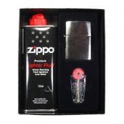Kit Isqueiro Classic Escovado (200) - Zippo