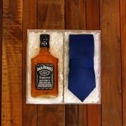 Kit Para Padrinhos Jack Daniel's 200ml e Gravata (Modelo 3)