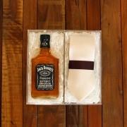 Kit Para Padrinhos Jack Daniel's 200ml e Gravata (Modelo 6)