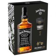 Kit Whiskey Jack Daniel's 150 - Garrafa 1L + Copo + Poster