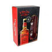 Kit Whiskey Jack Daniel's Fire - Garrafa 1L + 2 Copos de Shot