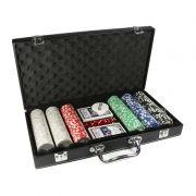 Maleta de Poker 300 Fichas Numeradas 11,5g - Hoyle