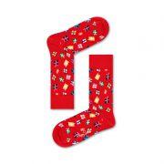 Meia Colorida em Algodão Christmas Gifts Vermelha - Happy Socks