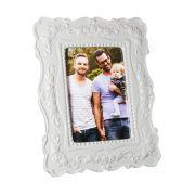 Porta-Retrato Europe Porcelana Branco 1 Foto 15x10 - Envie Sua Foto