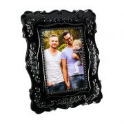 Porta-Retrato Europe Porcelana Preto 1 Foto 15x10