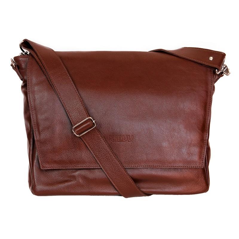 63e5bd47f2a4c Bolsa Masculina Transversal Para Notebook em Couro Marrom - Kievv    Gentleman Store
