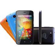 Smartphone Qbex Intel Dual Chip Android 4.4 Tela 4ips 4gb 3g Wi-Fi Câmera 5mp - Preto Hs011