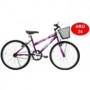 Bicicleta ARO24 Feminina Bella com Cesta - 310938