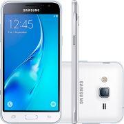 Smartphone Samsung Galaxy J3 Dual Chip Desbloqueado Android 5.1 Tela 5'' 8GB 4G Wi-Fi Câmera 8MP - Branco