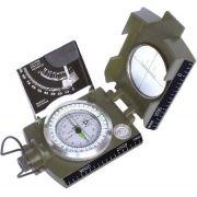 Bussola Profissional Tipo Militar K-4074 41148 - Escala Metrica Graduada - Tabela para Calculo