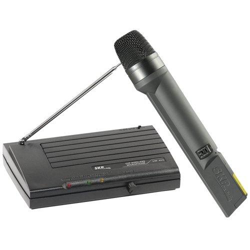 Microfone sem Fio VHF655 Preto SKP  - skalla magazine