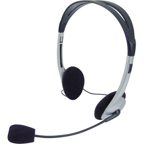 Headset Voicer LIGHT 662040BS PRETO/PRATA Omega  - skalla magazine