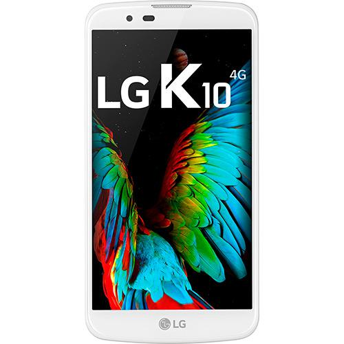 "Smartphone LG K10 Dual Chip Desbloqueado Android 6.0 Tela 5.3"" 16GB 4G Câmera 13MP TV- Branco  - skalla magazine"