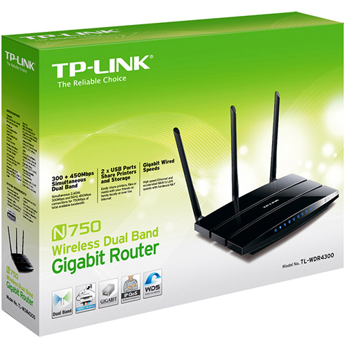 Roteador Wireless TP-Link TL-WDR4300 750 mbps  - skalla magazine
