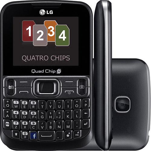 Celular LG C299 Desbloqueado, Preto, Câmera VGA, Quad chip, Qwerty  - skalla magazine