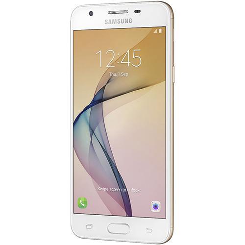 """Smartphone Samsung Galaxy J5 Prime Dual Chip Android 6.0 Tela 5"""" Quad-Core 1.4 GHz 32GB 4G Wi-Fi Câmera 13MP com Leitor de Digital - Dourado  - skalla magazine"""