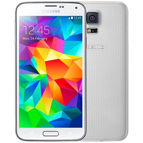 """Smartphone Samsung Galaxy S5 Debloqueado Branco 4G Android 4.4 Tela 5.1""""  - skalla magazine"""