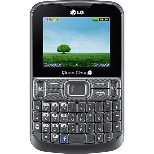 Celular LG C299 Desbloqueado, Prata, Câmera VGA, Quad chip, Qwerty  - skalla magazine