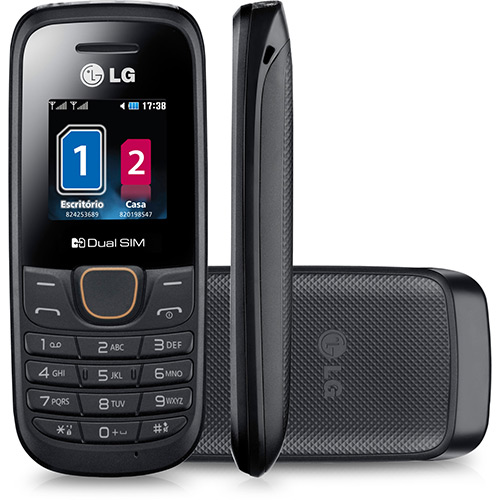 Celular LG A275 Desbloqueado Preto Dual CHIP  - skalla magazine