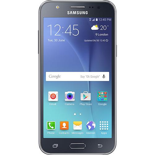 "Smartphone Samsung Galaxy J5 Duos Dual Chip Desbloqueado Android 5.1 Tela 5"" 16GB 4G Wi-Fi Câmera 13MP - Preto  - skalla magazine"