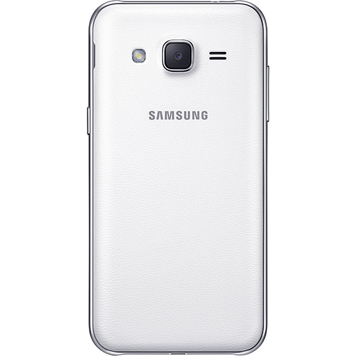 Smartphone Samsung Galaxy J2 Duos Dual Chip Desbloqueado Android Tela 4.7´ 8GB 4G Wi-Fi Câmera 5MP TV Digital - Branco  - skalla magazine
